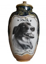 DSCPPU7: Dog Stunning Charcoal Portrait Pet Urn