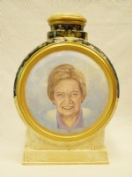 This is my moms oil portrait urn